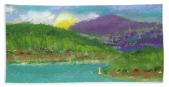 Beach Towel featuring the photograph Lake View by David Patterson