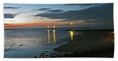Lancashire. Knott End. Sunset.. Beach Sheet