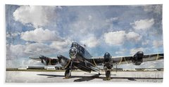 Lancaster Engine Test 2 Beach Towel