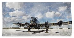 Beach Towel featuring the photograph Lancaster Engine Test 2 by Brad Allen Fine Art