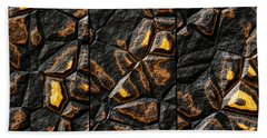 Large Gold Stone Triptych Beach Towel