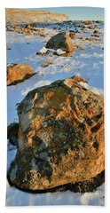 Last Light Of The Day In The Book Cliffs Beach Towel