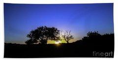 Last Light Texas Hill Country Paradise Canyon Sunset 8053a Beach Sheet