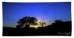 Last Light Texas Hill Country Paradise Canyon Sunset 8053a1 Beach Sheet