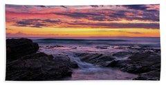 Last Sunset Of 2018 Beach Towel