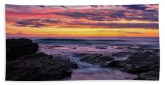 Last Sunset Of 2018 Beach Sheet