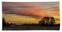 Late Fall In The Cotton Field Beach Towel