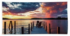 Beach Towel featuring the photograph Late Summer Storm. by Jeff Sinon