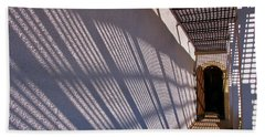 Lattice Shadows Beach Towel