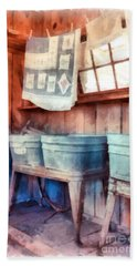 Laundry Day Wash Tubs Beach Towel