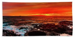 Lava Bath After Sunset Beach Towel