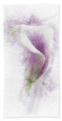 Lavender Calla Lily Flower Beach Towel