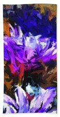 Lavender Flower And The Cobalt Blue Reflection Beach Towel
