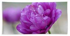 Lavender Tulip Beach Towel