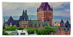 Le Chateau Frontenac Beach Towel