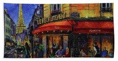 Le Recrutement Cafe Paris Beach Towel