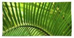 Beach Towel featuring the photograph Leaf Abstraction I by Leda Robertson