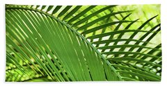 Beach Towel featuring the photograph Leaf Abstraction II by Leda Robertson