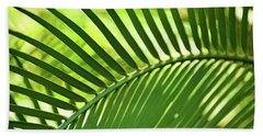 Beach Towel featuring the photograph Leaf Abstraction Iv by Leda Robertson