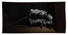 Beach Towel featuring the photograph Leaf And Frame by Attila Meszlenyi