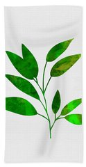 Leaf Branch Beach Towel