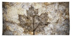 Leaf Imprint Beach Towel