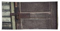 Leather Door Beach Sheet