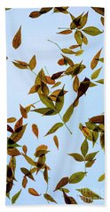 Beach Towel featuring the photograph Leaves On Glass by Jon Burch Photography