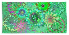 Beach Towel featuring the digital art Leaves Remix One by Vitaly Mishurovsky