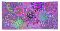 Beach Towel featuring the digital art Leaves Remix Three by Vitaly Mishurovsky