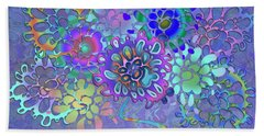 Beach Towel featuring the digital art Leaves Remix Two by Vitaly Mishurovsky