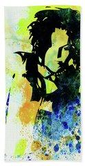 Legendary Ani Difranco Watercolor Beach Towel