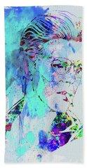 Legendary David Bowie Watercolor Beach Towel