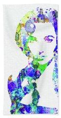Legendary Elizabeth Taylor Watercolor Beach Towel