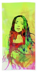 Legendary Fiona Apple Watercolor Beach Towel