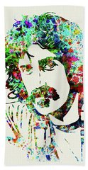 Legendary Frank Zappa Watercolor Beach Towel