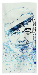 Legendary Hemingway Watercolor Beach Towel