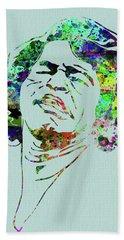 Legendary James Brown Watercolor Beach Towel
