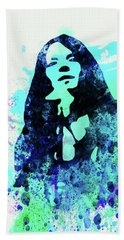 Legendary Janis Joplin Watercolor II Beach Towel