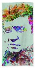 Legendary Johnny Cash Watercolor Beach Towel