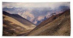 Beach Towel featuring the photograph Leh-manali Mountains by Whitney Goodey