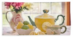 Lemon Tea  Beach Towel
