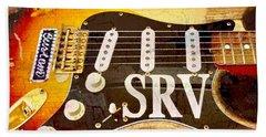 Lenny Stevie Ray Vaughans Guitar Beach Towel
