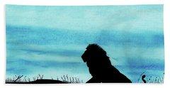 Leo At Sunset Beach Towel