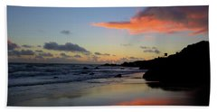 Beach Towel featuring the photograph Leo Carrillo Sunset II by John Rodrigues