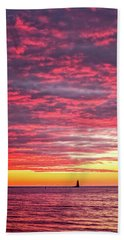Beach Towel featuring the photograph Let There Be Light by Jeff Sinon