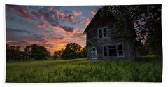 Beach Towel featuring the photograph Letters From Home by Aaron J Groen