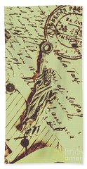 Letters Of Liberty Beach Towel