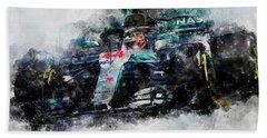 Lewis Hamilton, Mercedes Amg F1 W09 - 10 Beach Towel