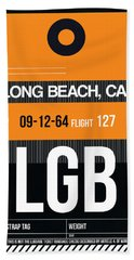 Lgb Long Beach Luggage Tag II Beach Towel
